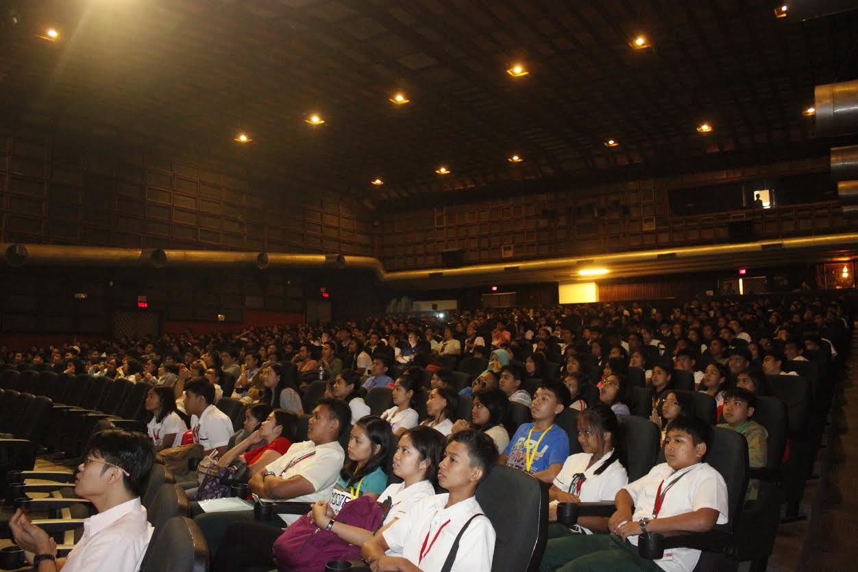 Coming from different schools in Luzon, Visayas, and Mindanao, Research Fair 2016 participants sit together for the opening program